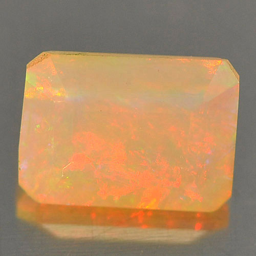 Unheated 0.67 Ct. Octagon Natural Gem Play Of Colour Multi Color Opal