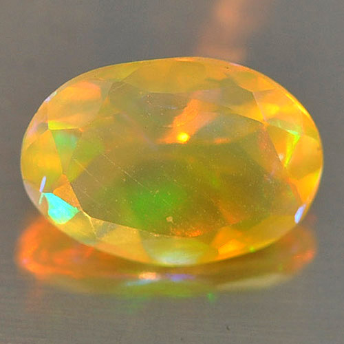 0.46 Ct. Oval Natural Gem Play Of Colour Multi Color Opal Unheated