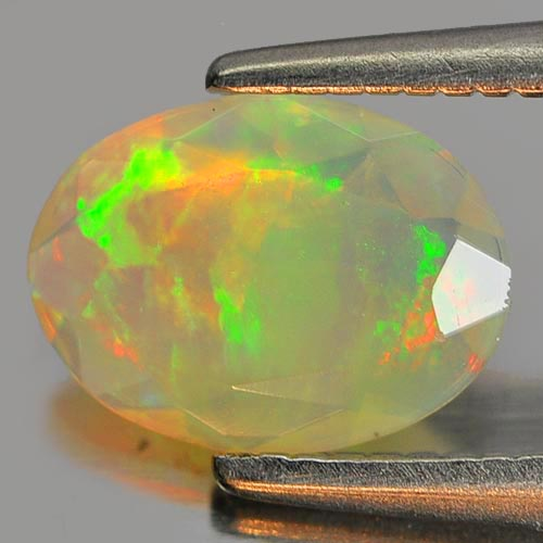 0.51 Ct. Good Cutting Oval Natural Gem Multi Color Play Of Colour Opal