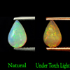 0.55 Ct. Pear Cabochon Natural Gem Multi Color Opal Unheated