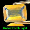 0.79 Ct. Stunning Natural Opal Multi Color Octagon Shape Unheated