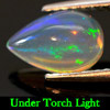 0.81  Ct. Natural Gemstone Pear Cabochon Multi-Color Play Of Colour Opal