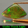 Nice Gem 0.65 Ct. Natural Play Of Color Rainbow Fire Red Black Opal
