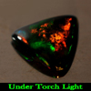 0.88 Ct. Trilliant Cab Natural Play Of Color Rainbow Fire Red Black Opal