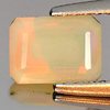 Unheated 0.52 Ct. Octagon Natural Gem Multi Color Play Of Colour Opal