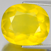 Unheated 13.38 Ct. Beautiful Oval Shape Natural Gem Clean Yellow Opal Mexico