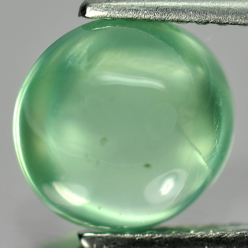 3.35 Ct. Oval Cabochon 9.5 x 9.1 x 5.7 Mm. Natural Gemstone Green Prehnite