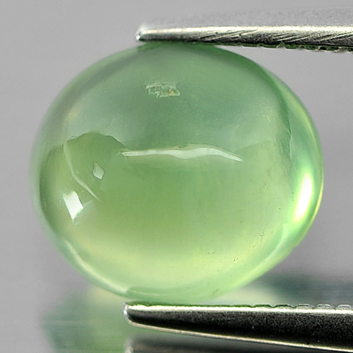 Unheated 2.08 Ct. Oval Cabochon Natural Gemstone Green Prehnite From Australia