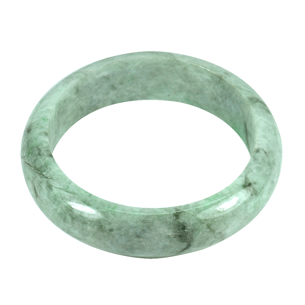 257.57 Ct. Size 65 x 52 x 15 Mm. Natural Gemstone Green Jade Bangle Unheated