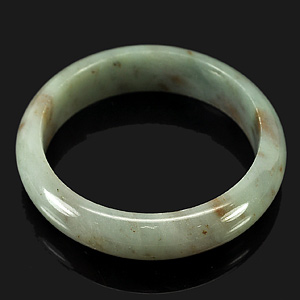 248.54 Ct. Natural Gem Multi-Color Jade Bangle Size 68 / 54 / 13 Mm. Unheated