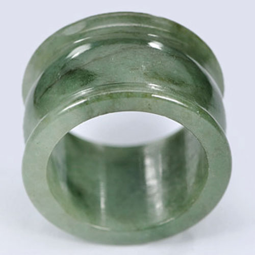 Unheated 43.18 Ct. Good Opaque Natural Green Jade Ring Size 10