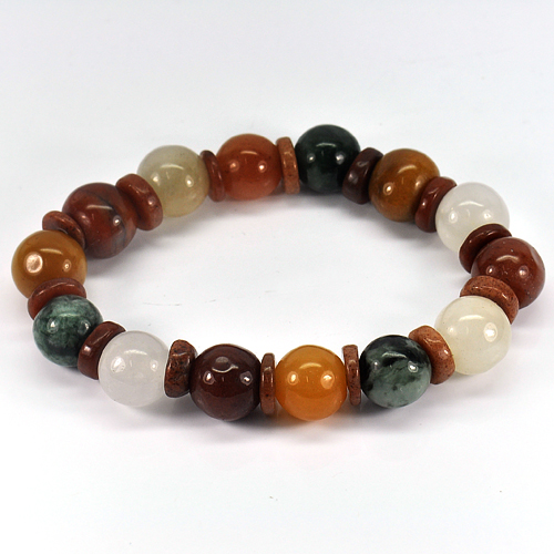 209.65 Ct. Natural Honey Color Jade Beads Bracelet Length 8 Inch.