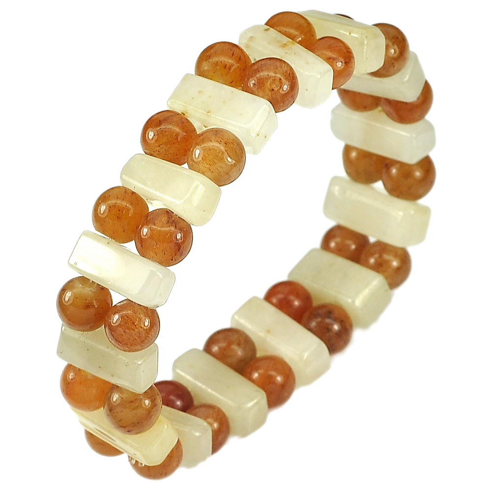 165.32 Ct. Natural Multi-Color Jade Beads Flexibility Bracelet Length 7 Inch.