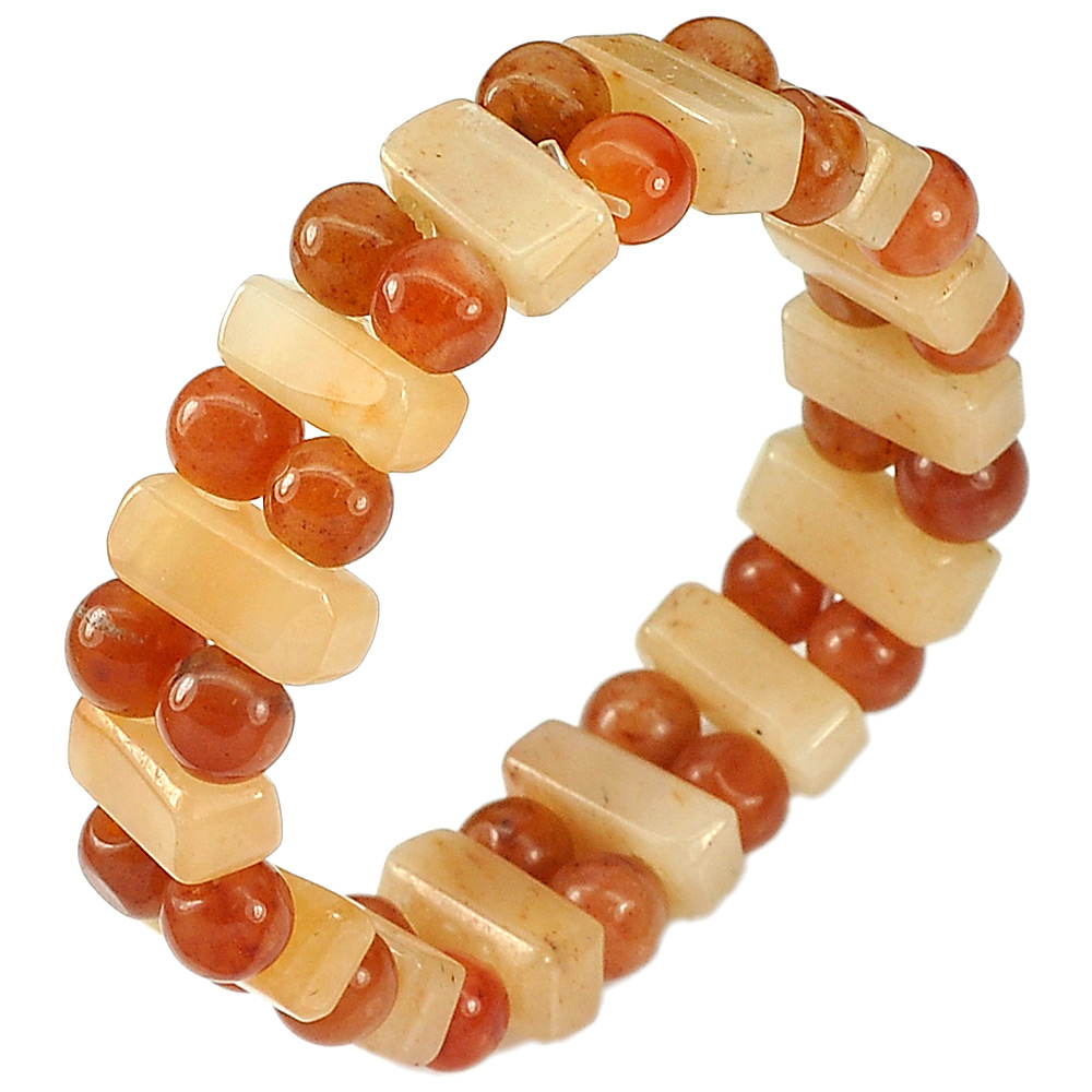 160.10 Ct.Natural Gem Multi-Color Jade Beads Flexibility Bracelet Length 7 Inch.
