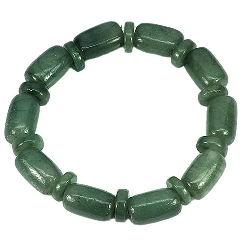 211.56 Ct. Natural Gemstone Green Jade Beads Flexibility Bracelet Length 8 Inch.