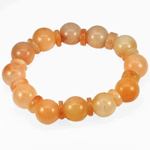265.58 Ct. Natural Gems Multi-Color Honey Jade Beads Bracelet Length 8 Inch.