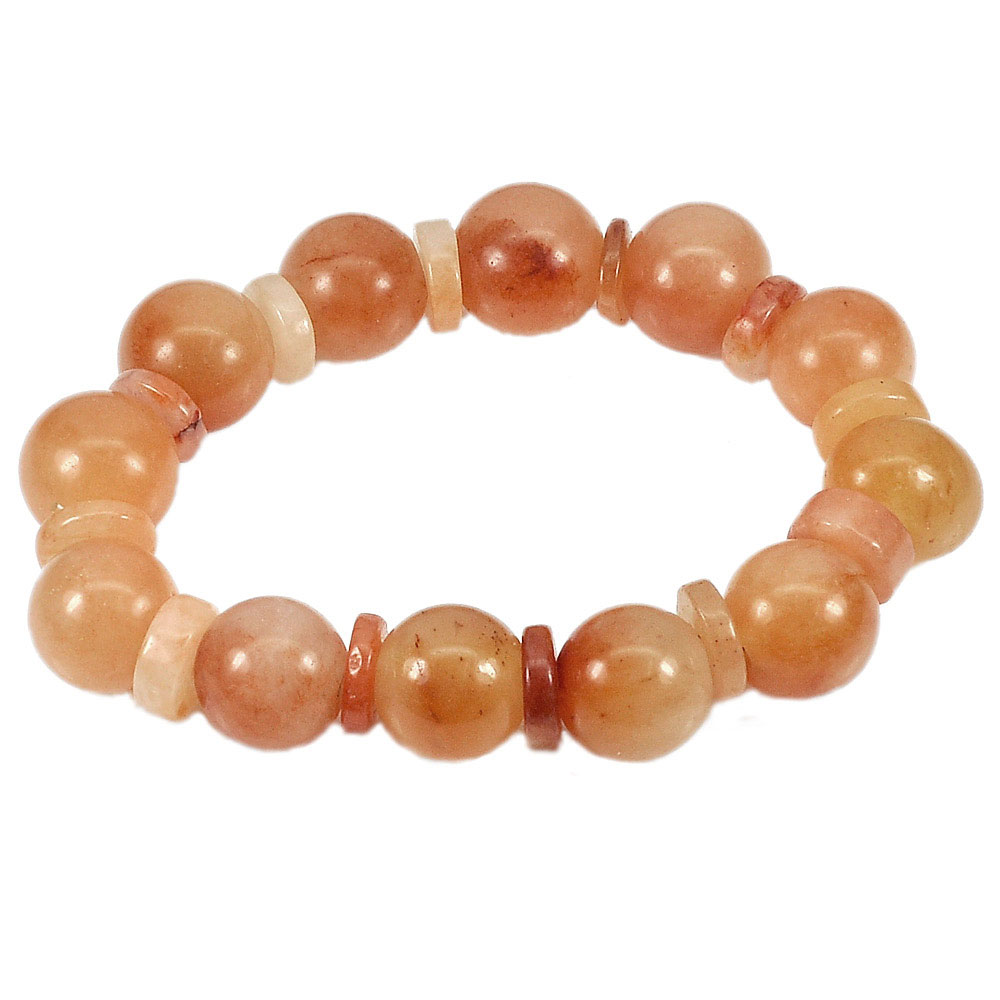 265.37 Ct. Natural Gems Multi-Color Honey Jade Beads Bracelet Length 8 Inch.