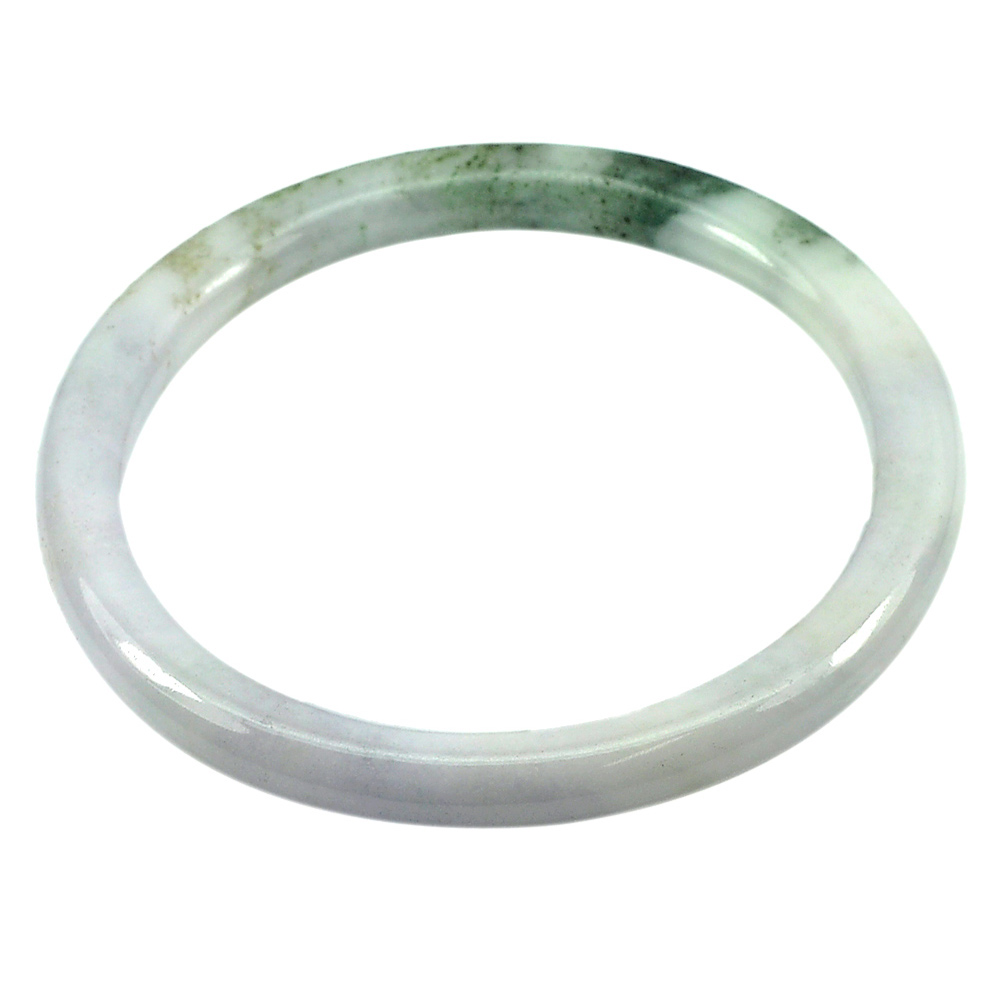 151.97 Ct. Round Natural Gemstone Multi-Color Jade Bangle Size 74 x 58 x 8 mm.