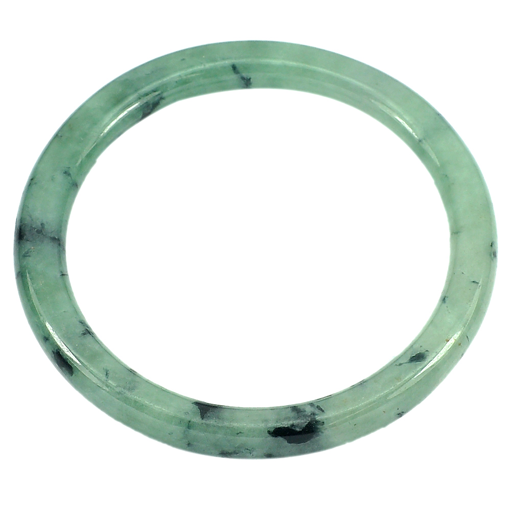 179.63 Ct. Diameter 61 mm. Lovely Natural Gemstone Green Jade Bangle Unheated