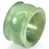 Beauty Color 51.49 Ct. Natural White Green Jade Ring Size 9.5 Unheated