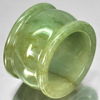 54.69 Ct. Beautiful 818101Natural White Green Jade Ring Size 9 Thailand Unheated