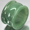 Charming Color 56.11 Ct. Size 9.5 Natural Gemstone Green Jade Ring Unheated