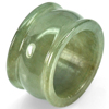 48.92 Ct. Size 9.5 Natural White Green Jade Ring Thailand Unheated