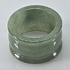 45.35 Ct. Natural White Green Jade Ring Size 9.5 Unheated