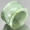51.81 Ct. Natural Green White Jade Ring Size 9 Thailand Unheated