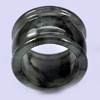 53.79  Ct. Beautiful Natural White Black Jade Ring Size 9.5 Thailand Unheated