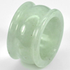 Nice Color 51.89 Ct. Size 9.5 Natural Green White Jade Ring Thailand