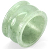 48.49 Ct. Size 9.5 Natural White Green Jade Ring Thailand