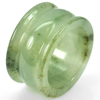 Unheated 45.07 Ct. Size 9 Natural Green White Jade Ring Thailand