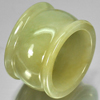 Unheated 48.52 Ct. Natural Gemstone Green White Jade Ring Size 9