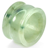 51.71 Ct. Beauteous Natural White Green Jade Ring Size 9.5  Thailand
