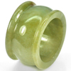 Unheated 52.53 Ct. Size 9.5 Natural White Green Jade Ring