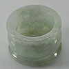58.60 Ct. Size 9.5 Natural Green White Jade Ring Thailand Unheated