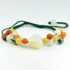 103.17 Ct. Natural Fancy Color Jade Beads Adjustable Bracelet Unheated