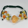 100.98 Ct. Natural Fancy Jade Beads Bracelet Length 3.5 to 5.5 Inch.