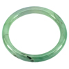 191.13 Ct. Natural Gemstone Green Color Jade Bangle Size75 x 58 x 7mm. Unheated