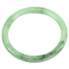 148.51 Ct. Diameter 58 mm. Charming Natural Green White Jade Bangle Unheated