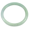161.21 Ct. Diameter 55 mm. Natural Gemstone Green White Jade Bangle Unheated