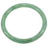 Unheated 132.57 Ct. Natural Gemstone Green Color Jade Bangle Size72 x 58 x 5mm.