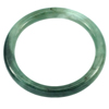 172.10 Ct. Diameter 55 mm. Charming Natural Green White Jade Bangle Unheated