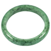 253.66 Ct. Good Natural Gemstone Green Jade Bangle Diameter 57 mm. Unheated