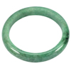 237.88 Ct. Beautiful Natural Gem Green Jade Bangle Diameter 58 mm. Unheated