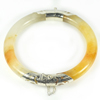 Unheated 215.28Ct. Diameter65Mm.Natural Gem Multi-Color Jade Bangle with Silver