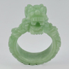 Unheated 60.45 Ct. 40 x 15 Mm. Natural Gem Green Color Jade Dragon Ring Size 10