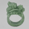 Unheated 104.77 Ct. 45 x 16 Mm. Natural Gemstone Green Jade Dragon Ring Size 11