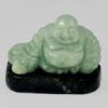 Unheated 129.14 Ct. Natural Gemstone Green Color Jade Happy Smile Buddha Carving